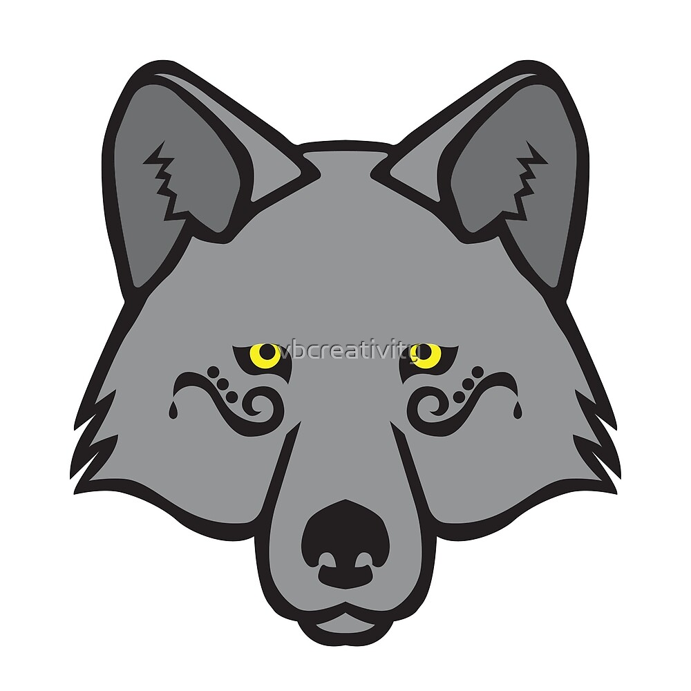 Mystical Wolf Series – Yellow by vbcreativity