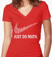 Just do math t-shirt Women's Fitted V-Neck T-Shirt