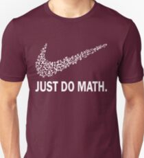 Camiseta ajustada Just do math camiseta