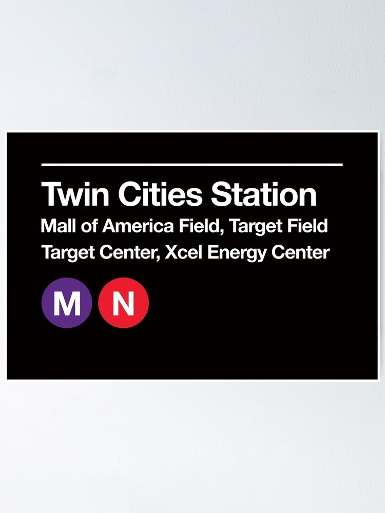 Alternate view of Twin Cities Pro Sports Subway Sign Poster