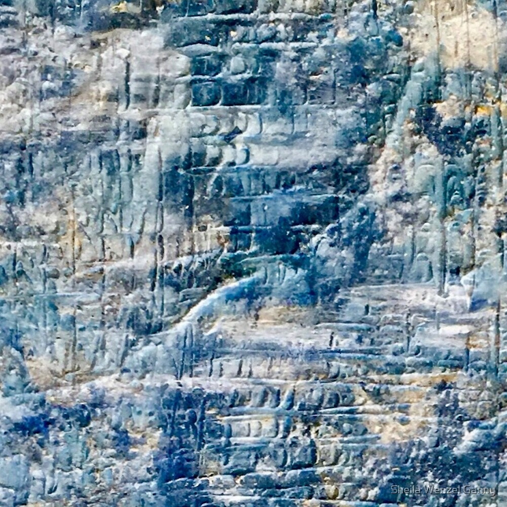 Sand and Stone Abstract Blue by Sheila Wenzel Ganny