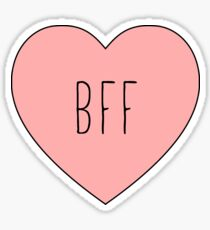 I Love My BFF Best Friend Heart Sticker