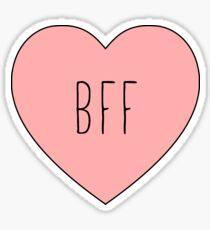 Pegatina Amo mi mejor amigo BFF corazón