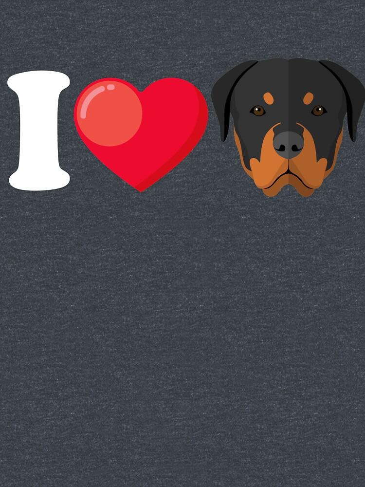 I Love Rottweiler by Phoenix23