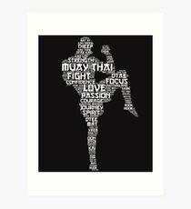 Lámina artística Palabras de Muay Thai
