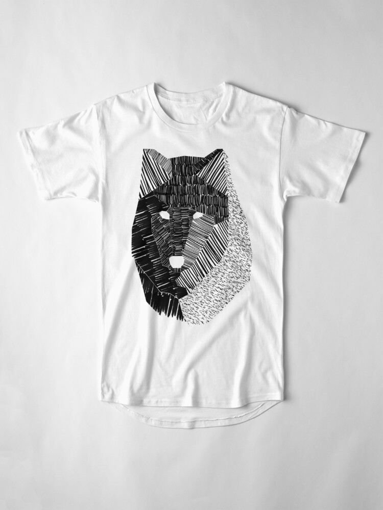Alternate view of Wolf Mask Long T-Shirt