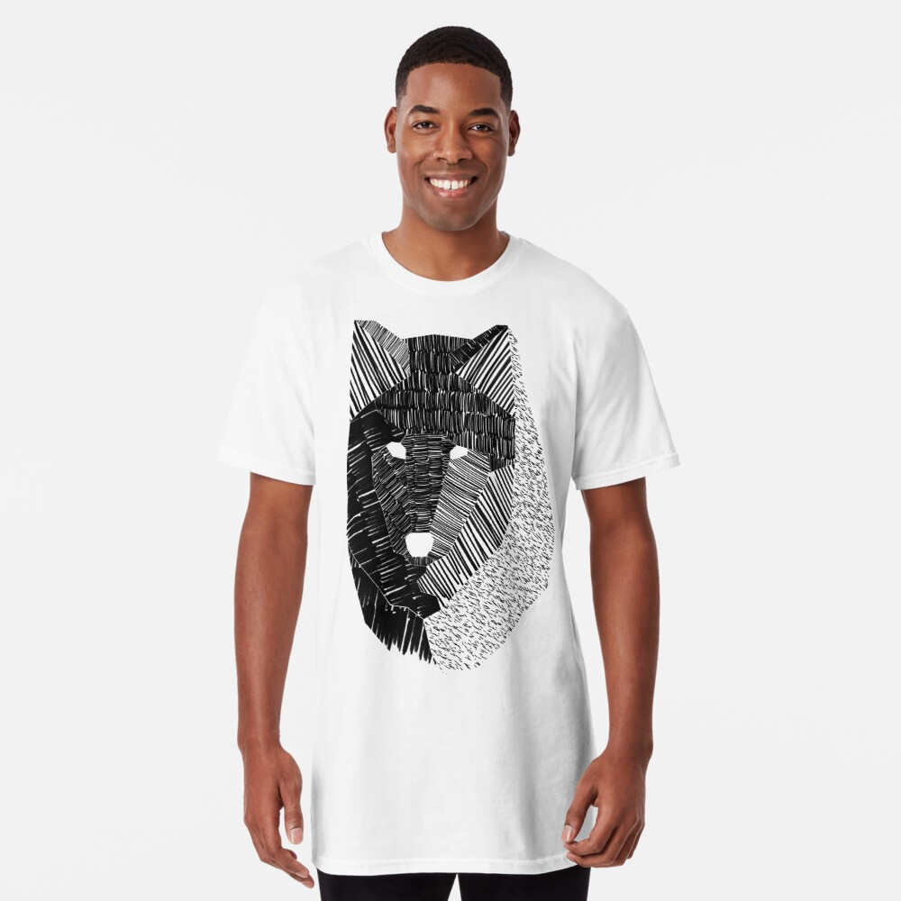 Wolf Mask Long T-Shirt