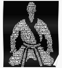 Jiu Jitsu Words Poster