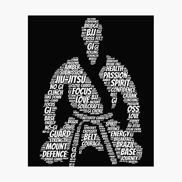 Jiu Jitsu Words Photographic Print