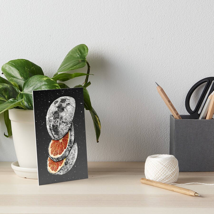 LUNAR FRUIT Art Board Print