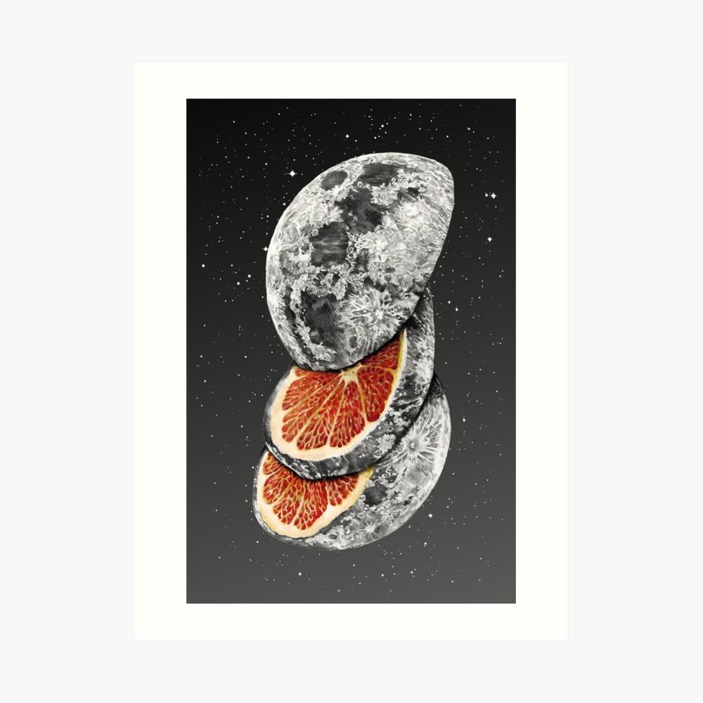LUNAR FRUIT Art Print