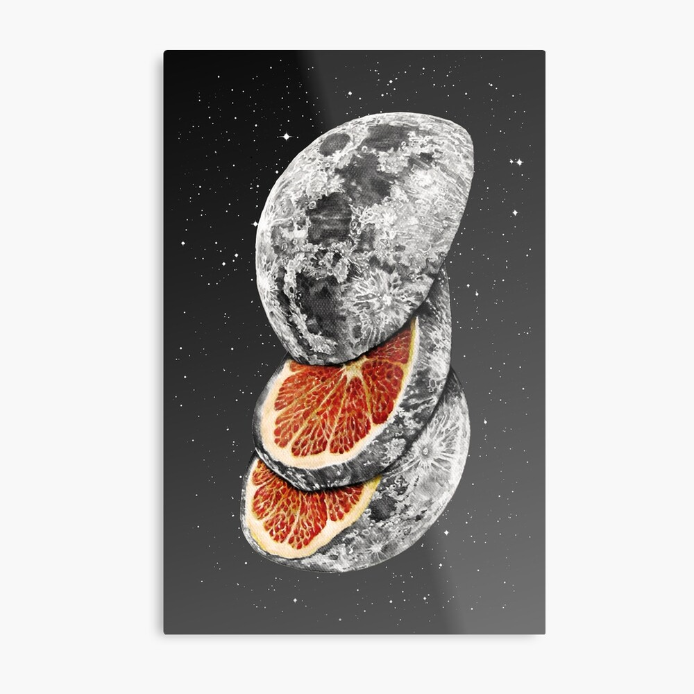 LUNAR FRUIT Metal Print