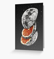 LUNAR FRUIT Greeting Card