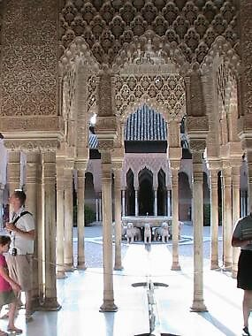 fountain of lions in the Alhambra palace, Granada, Spain by chord0