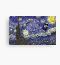 Doctor Who – Tardis by Vincent Van Gogh Canvas Print
