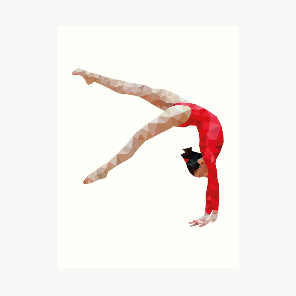 Polygymnast Kunstdruck