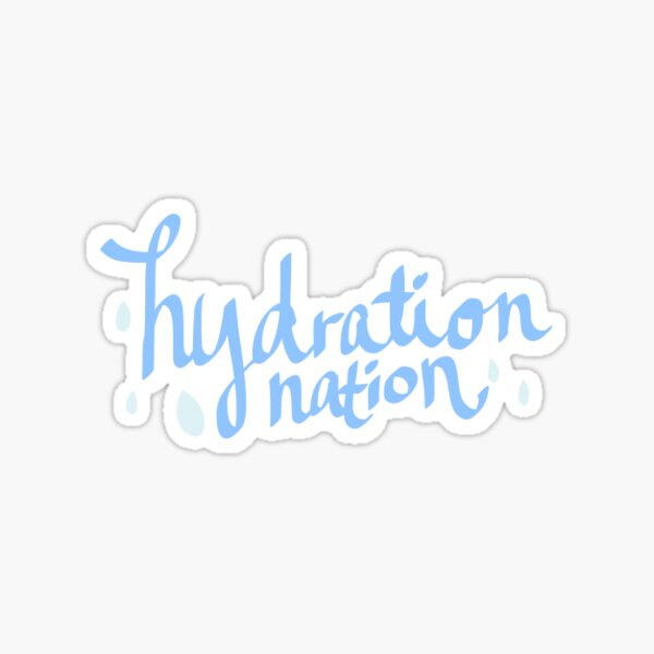 Hydration Nation Sticker