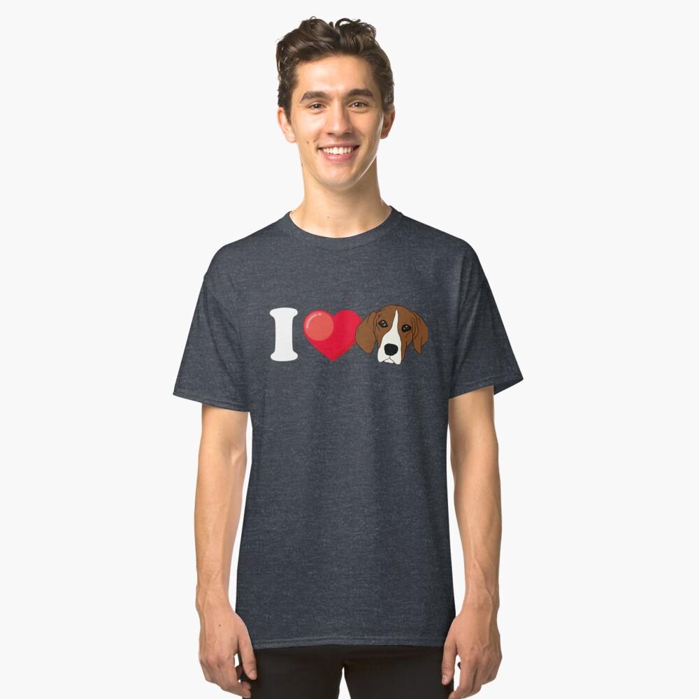 I Love Beagle Classic T-Shirt Front