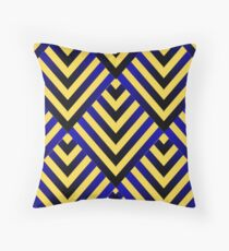 Stripe Me In Black And Blue Throw Pillow