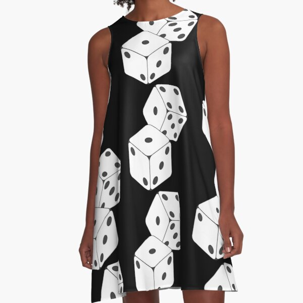Rolled Dice A-Line Dress