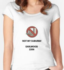 NOT MY SUBURB - EARLWOOD Women's Fitted Scoop T-Shirt