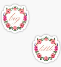 Floral Wreath - Big & Little Stickers  Sticker