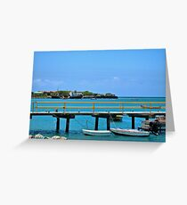 Freighter Aground Greeting Card