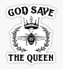 God Save The Queen Bee Sticker