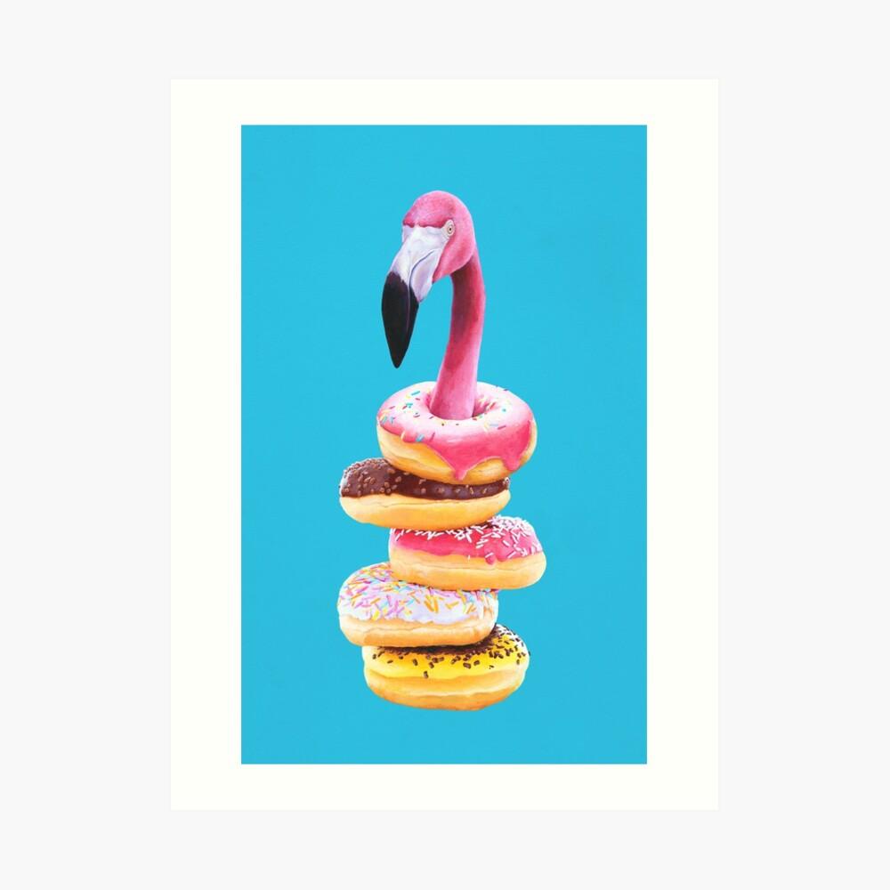 Ein ausgehungerter Flamingo Kunstdruck