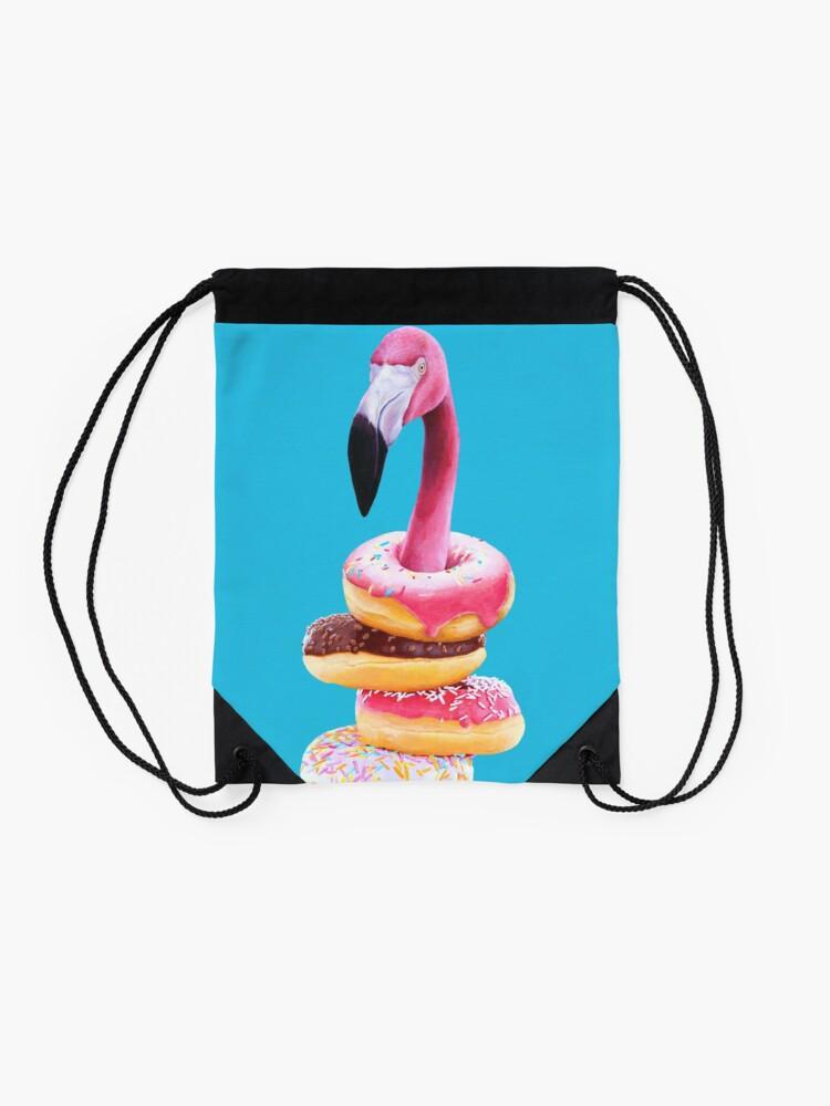 Alternative Ansicht von Ein ausgehungerter Flamingo Turnbeutel