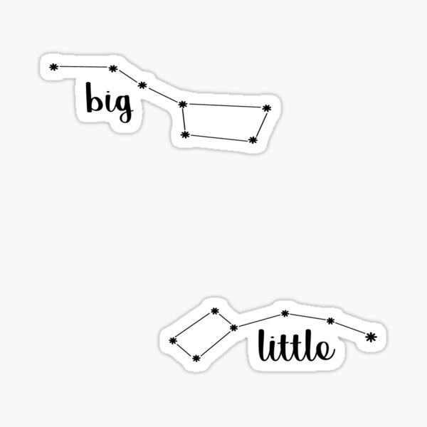 Big & Little Dipper Stickers  Sticker