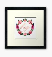 Floral Wreath - Big Framed Print