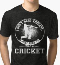 Funny Cricket T Shirt Gift  Tri-blend T-Shirt