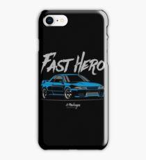 Fast Hero. R32 GT-R (blue) iPhone Case/Skin