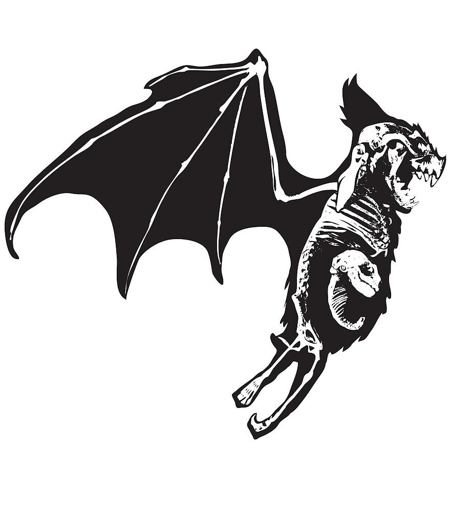 Mama skeleton bat by Lillian Ripley