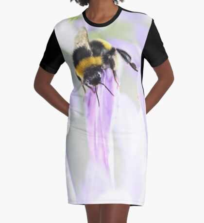 Bee-ing watchful Graphic T-Shirt Dress