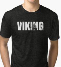 Viking Warrior T-shirt Viking Brother Welcome to Valhalla Tri-blend T-Shirt