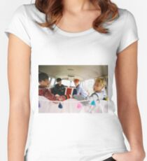 BTS YOUNG FOREVER JIN V JUNGKOOK & SUGA Women's Fitted Scoop T-Shirt