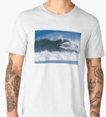 Bodyboarder in action Men's Premium T-Shirt