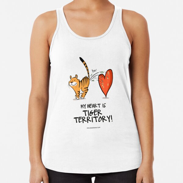 My Heart is Tiger Territory Racerback Tank Top
