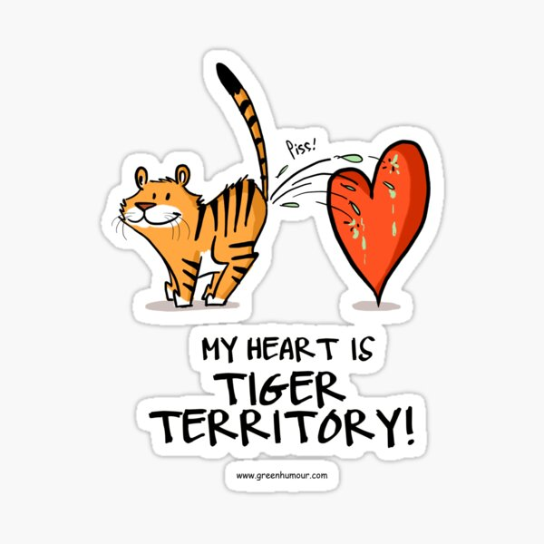 My Heart is Tiger Territory Sticker