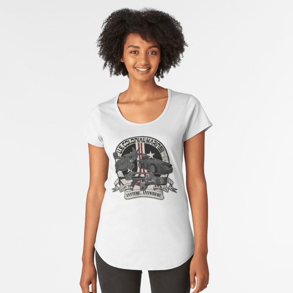Anytime, Anywhere. Premium Scoop T-Shirt
