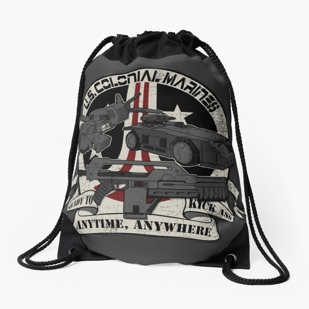 Anytime, Anywhere. Drawstring Bag
