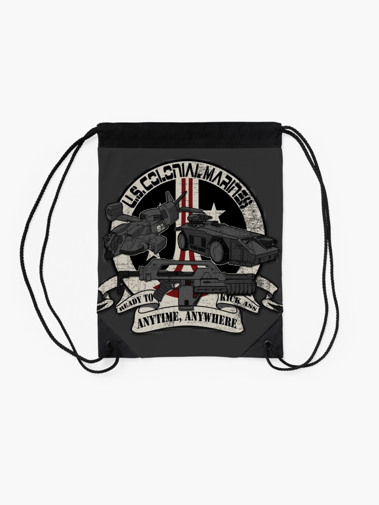 Alternate view of Anytime, Anywhere. Drawstring Bag