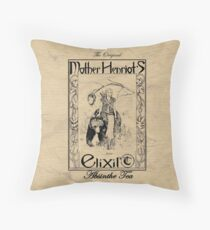 Mother Henriot's Elixir Throw Pillow