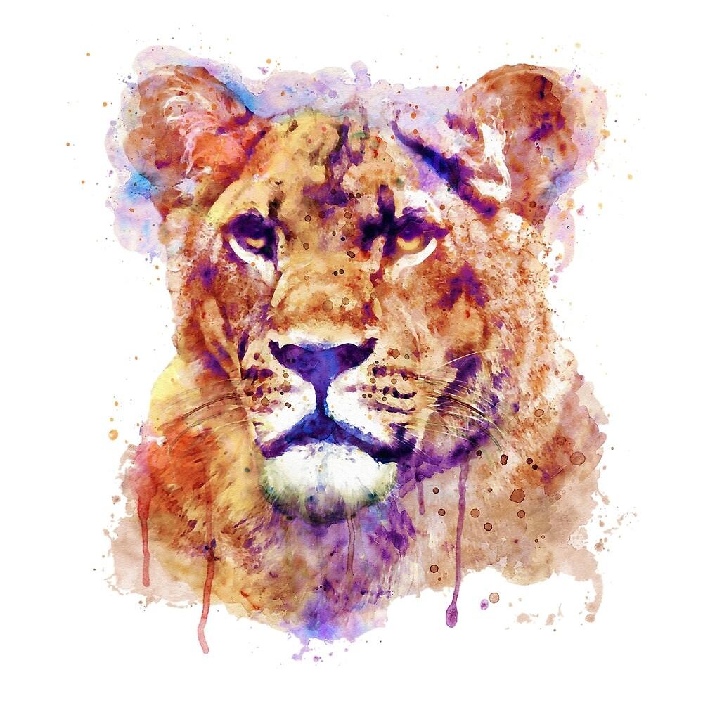 Lioness Head by Marian  Voicu
