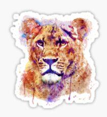Lioness Head Sticker