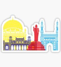 Hyderabad skyline pop Sticker