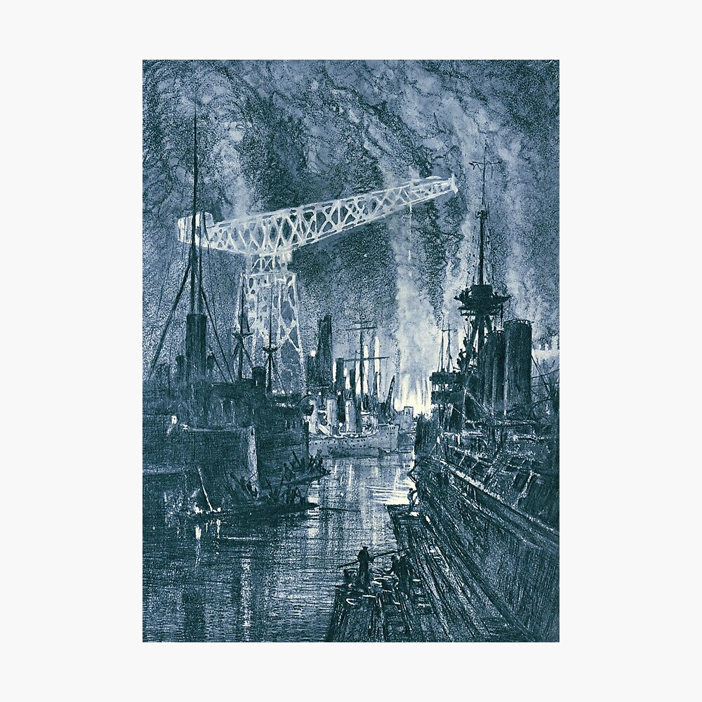 Shipbuilding by night Photographic Print