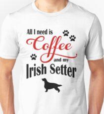 Coffee and my Irish Setter Unisex T-Shirt